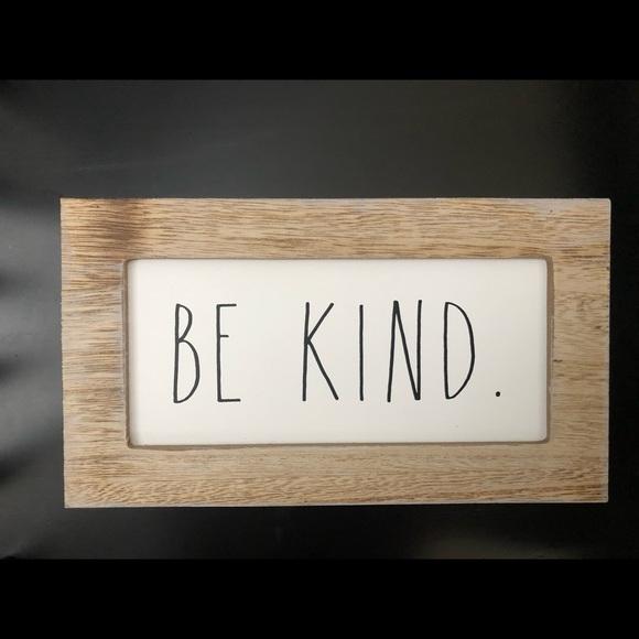 Rae Dunn Be Kind Sign